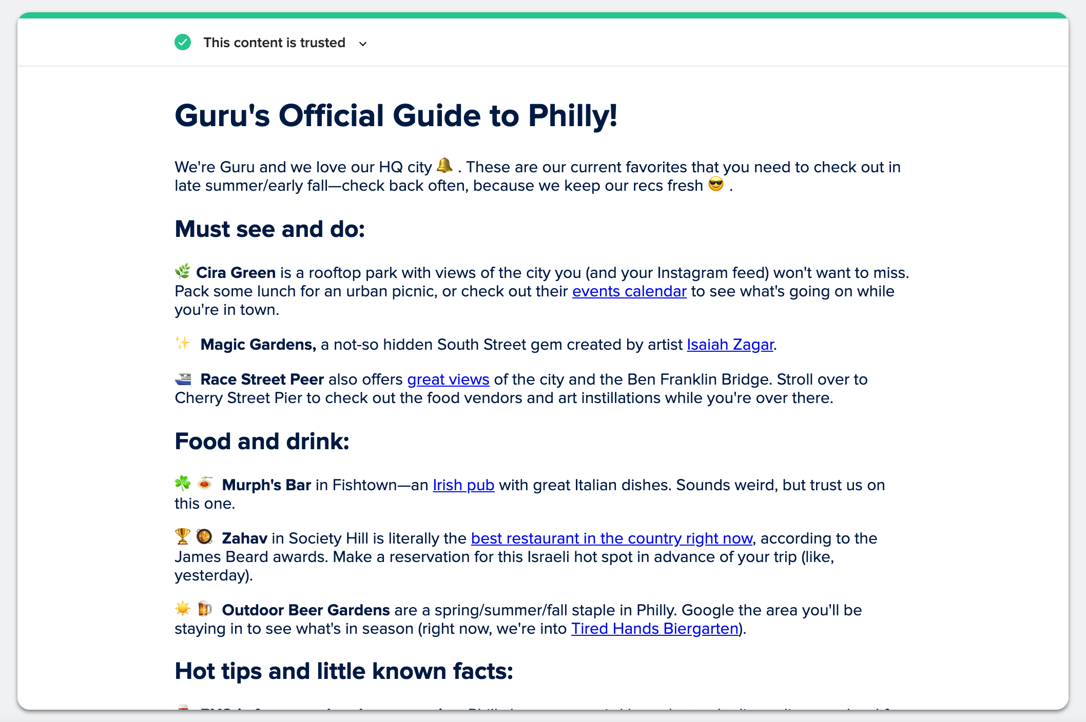 Guru's Guide to Philly