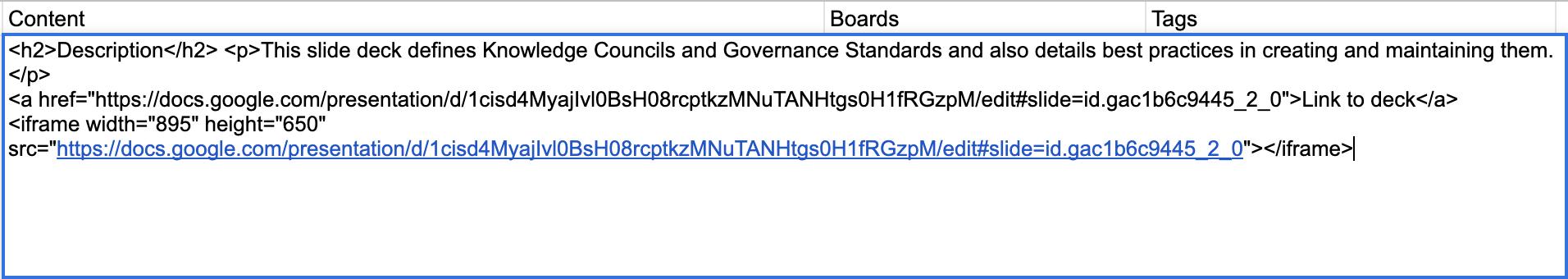 iframe spreadsheet migrator - HTML
